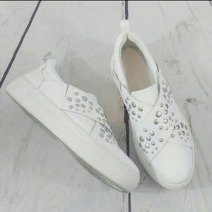 J/Slides NYC studded tennis shoes size 7.5